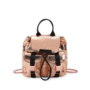 Kendall & Kylie Copper Metallic Backpack